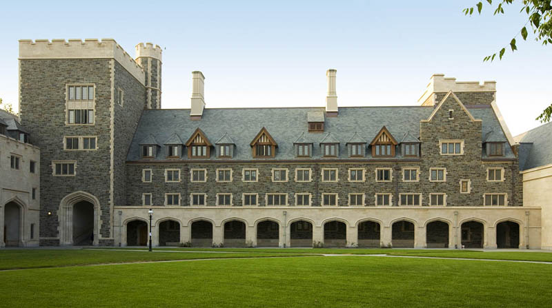 Picture of copper and slate roof at Princeton University�s Whitman College