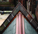 Thumbnail of slate roofing and extensive copper work in all built-in gutters and flat seam pocket roofs at Princeton University�s Humanities Building